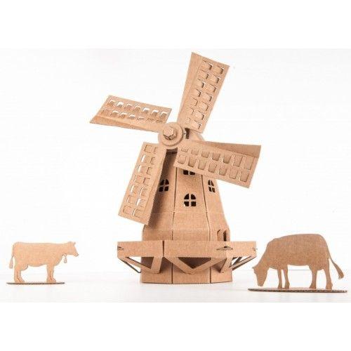Moulin à vent (naturel) - LEO-L02012-N - Leolandia - Maquettes en carton - Le Nuage de Charlotte