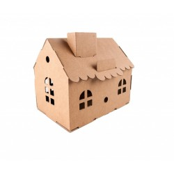 House Money Box (natural) - LEO-L01011-N - Leolandia - Maquettes en carton - Le Nuage de Charlotte