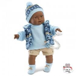 Zareb Crying Baby Boy Doll 42cm - LLO-426309 - Llorens - Poupées - Le Nuage de Charlotte