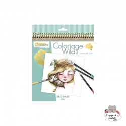Colouring Book Wild 3 - AVM0003 - Avenue Mandarine - Drawing and Coloring - Le Nuage de Charlotte