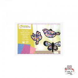 Creative Box - Stained glass paper - AVM-KC080 - Avenue Mandarine - Creative Kits - Le Nuage de Charlotte