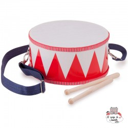 Marching Drum (red) - NCT0009 - New Classic Toys - Musical Instruments - Le Nuage de Charlotte