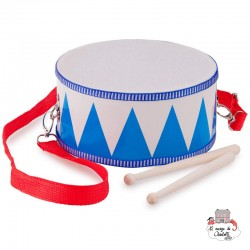Marching Drum (blue) - NCT0010 - New Classic Toys - Musical Instruments - Le Nuage de Charlotte