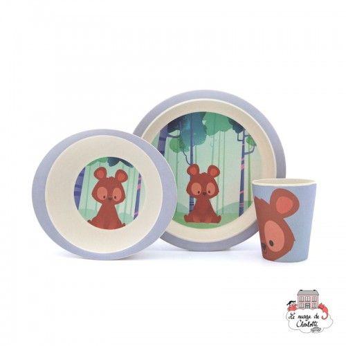 Bamboo Meal Set - Bear - YUU0002 - Yuunaa - Eat and Drinks - Le Nuage de Charlotte