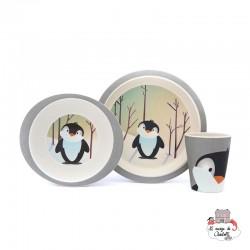 Bamboo Meal Set - Pinguin - YUU0006 - Yuunaa - Eat and Drinks - Le Nuage de Charlotte