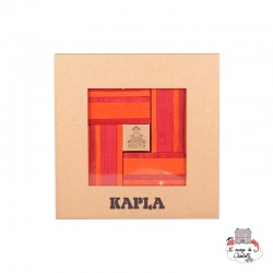 Kapla Color Book & Colours - orange & red - KAP-KC22 - Kapla - Wooden blocks and boards - Le Nuage de Charlotte