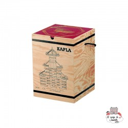 Kapla Nature 280 Chest red - KAP-K280R - Kapla - Wooden blocks and boards - Le Nuage de Charlotte