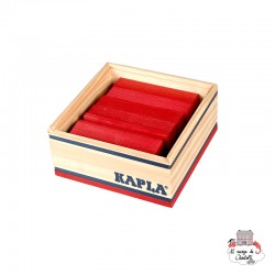 Kapla Color 40 Squares - red - KAP-K1ROUGE - Kapla - Wooden blocks and boards - Le Nuage de Charlotte