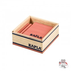 Kapla Color 40 Squares - pink - KAP-K1ROSE - Kapla - Wooden blocks and boards - Le Nuage de Charlotte