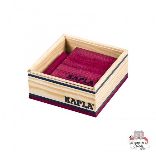 Kapla Color 40 Squares - purple - KAP-K1PR - Kapla - Wooden blocks and boards - Le Nuage de Charlotte