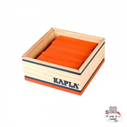 Kapla Color 40 Squares - orange - KAP-K1ORANGE - Kapla - Wooden blocks and boards - Le Nuage de Charlotte