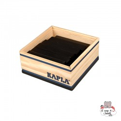 Kapla Color 40 Squares - black - KAP-K1NOI - Kapla - Wooden blocks and boards - Le Nuage de Charlotte