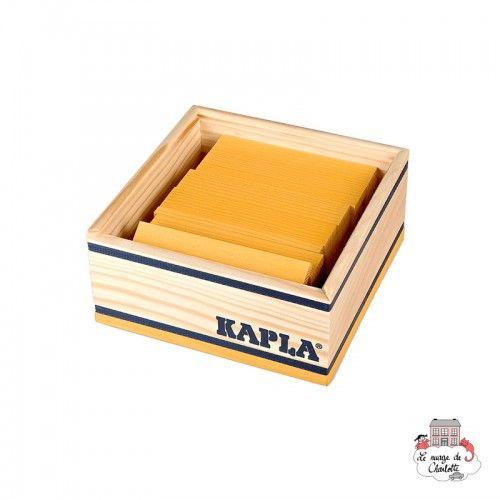 Kapla Couleur Carrés 40 - jaune - KAP-K1JAUNE - Kapla - Blocs et planchettes de bois - Le Nuage de Charlotte