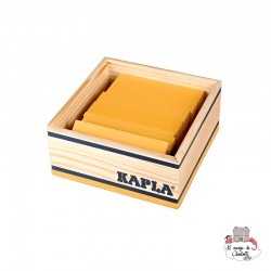 Kapla Color 40 Squares - yellow - KAP-K1JAUNE - Kapla - Wooden blocks and boards - Le Nuage de Charlotte