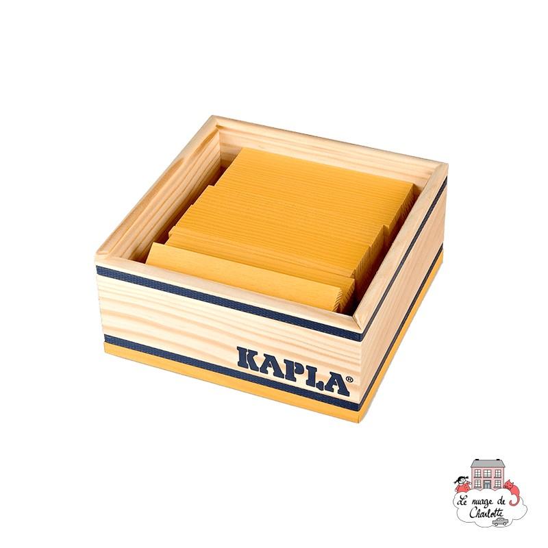 Kapla Color 40 Squares - yellow - KAP-K1JAUNE - Kapla - Wooden blocks and boards - Le Nuage de Charlotte