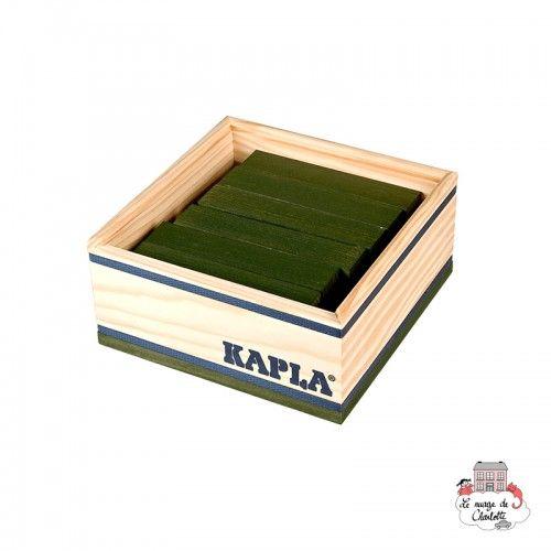 Kapla Color 40 Squares - green - KAP-K1BLVERT - Kapla - Wooden blocks and boards - Le Nuage de Charlotte