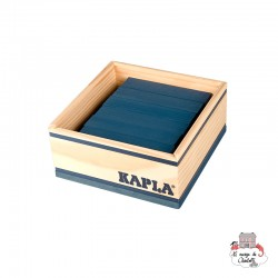 Kapla Color 40 Squares - dark blue - KAP-K1BLFO - Kapla - Wooden blocks and boards - Le Nuage de Charlotte