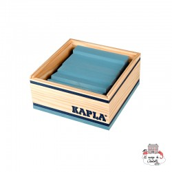 Kapla Color 40 Squares - light blue - KAP-K1BLCL - Kapla - Wooden blocks and boards - Le Nuage de Charlotte