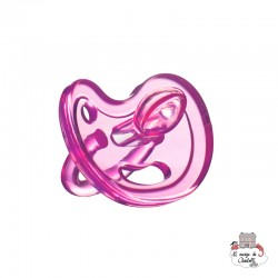 Silicone Pacifier pink 6+ - Orthodontic - EVK0009 - EcoViking - Pacifier - Le Nuage de Charlotte