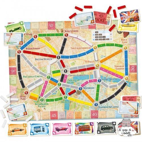 Les Aventuriers du Rail - Londres - DOW-75183 - Days of Wonder - Board Games - Le Nuage de Charlotte