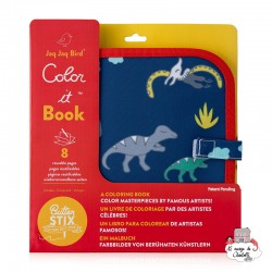 "Chalk Book ""Dinosaurs"" - JJB0016 - Jaq Jaq Bird - Drawing and Coloring - Le Nuage de Charlotte"