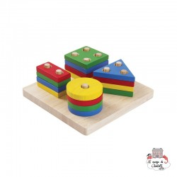 Geometric Sorting Board - PLT-2403 - PlanToys - Activity Toys - Le Nuage de Charlotte