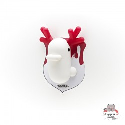 Dhink Canar Wall Banker white & red