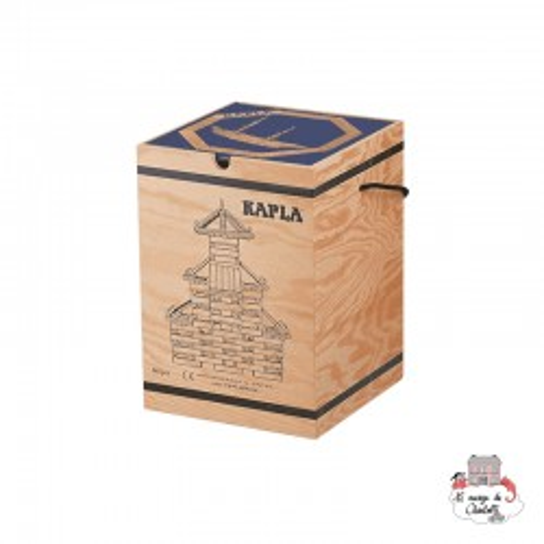 Kapla Nature 280 Chest blue - KAP-K280BL - Kapla - Wooden blocks and boards - Le Nuage de Charlotte