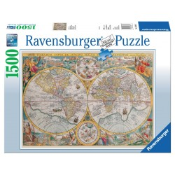 World Map 1594 - RAV0028 - Ravensburger - 1500 pieces - Le Nuage de Charlotte