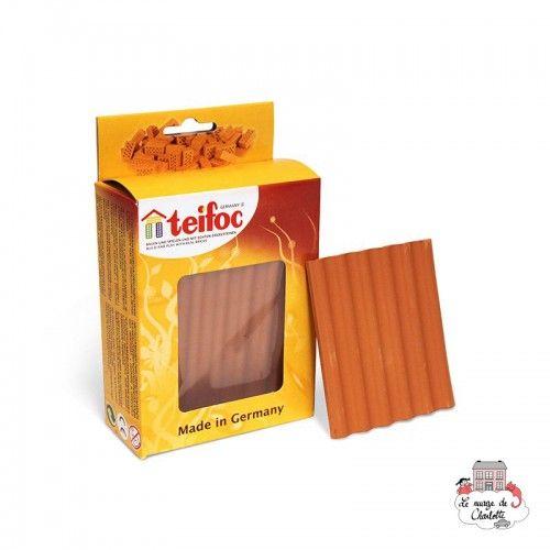 Teifoc Lot of 4 roof plates red - TEI-903800 - Teifoc - Clay Bricks - Le Nuage de Charlotte