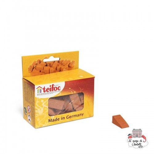 Teifoc Lot of 30 larges red triangles - TEI-906611 - Teifoc - Clay Bricks - Le Nuage de Charlotte