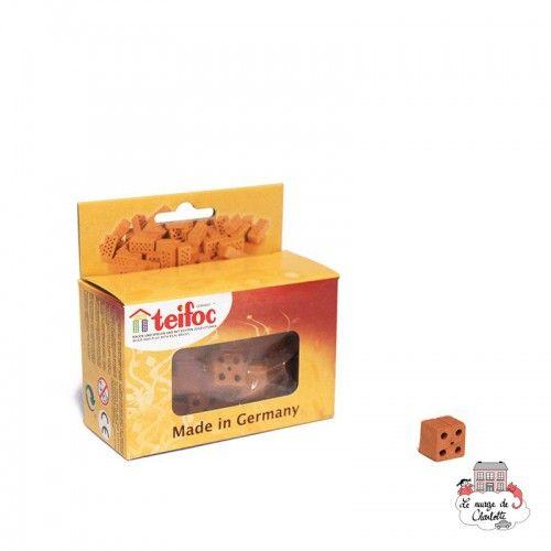 Teifoc Lot of 30 half red regular bricks - TEI-906701 - teifoc - Clay Bricks - Le Nuage de Charlotte