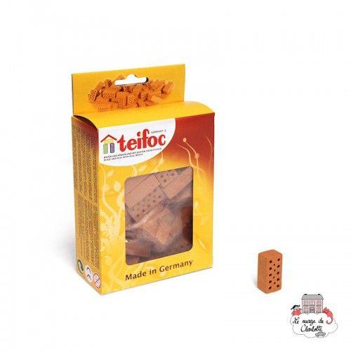 Teifoc Lot de 32 briques rouge - TEI-906601 - Teifoc - Briques en terre cuite - Le Nuage de Charlotte
