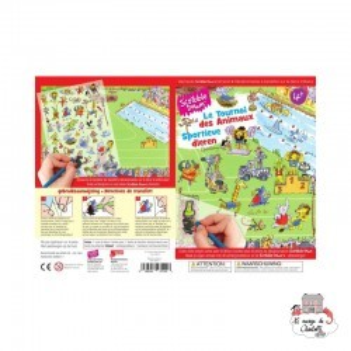 Decalcomania - Jungle Sports - SCD-SD011 - Scribble Down - Decalcomania - Le Nuage de Charlotte