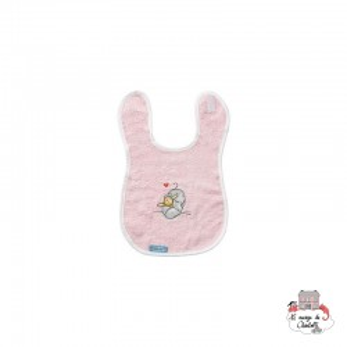 Bébé-jou Bib - Humphrey's Corner pink - BBJ0004 - bébé-jou - Washcloths, towel, cape, etc ... - Le Nuage de Charlotte