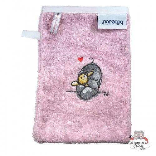 Bébé-jou Wash glove - Humphrey's Corner pink - BBJ0003 - bébé-jou - Washcloths, towel, cape, etc ... - Le Nuage de Charlotte