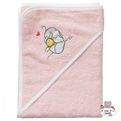 Bébé-jou Bathing cape - Humphrey's Corner pink - BBJ0002 - bébé-jou - Washcloths, towel, cape, etc ... - Le Nuage de Charlotte