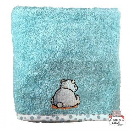 Bébé-jou Basket cover - Pompon turquoise - BBJ0012 - bébé-jou - Washcloths, towel, cape, etc ... - Le Nuage de Charlotte