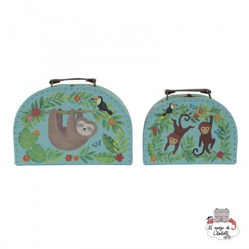 Sloth and Friends Suitcases - Set of 2 - S&B0012 - Sass & Belle - Suitcases - Le Nuage de Charlotte
