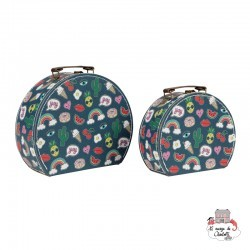 Patches and Pins Suitcases - Set of 2 - S&B0011 - Sass & Belle - Suitcases - Le Nuage de Charlotte