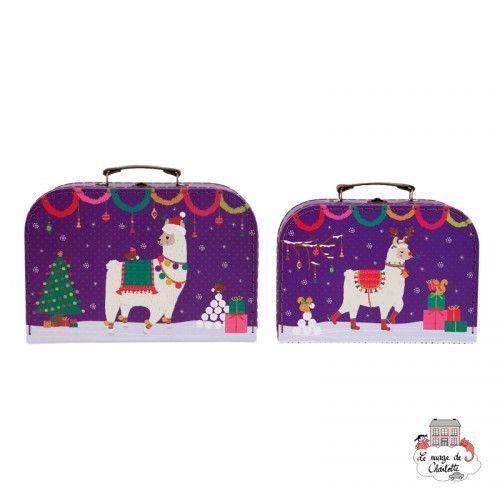 Fa La La Llama Suitcases - Set of 2 - S&B0010 - Sass & Belle - Suitcases - Le Nuage de Charlotte