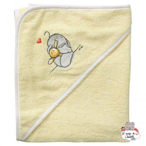 Bébé-jou Cape de bain - Humphrey's corner Jaune - BBJ0019 - bébé-jou - Gants de toilette, essuie, cape, etc... - Le Nuage de ...