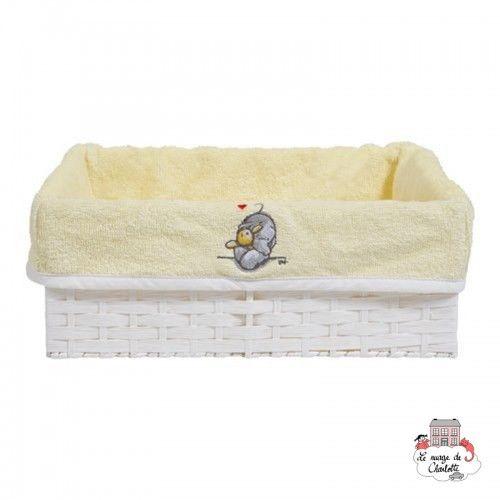 Bébé-jou Basket cover - Humphrey's corner Yellow - BBJ0020 - bébé-jou - Washcloths, towel, cape, etc ... - Le Nuage de Charlotte