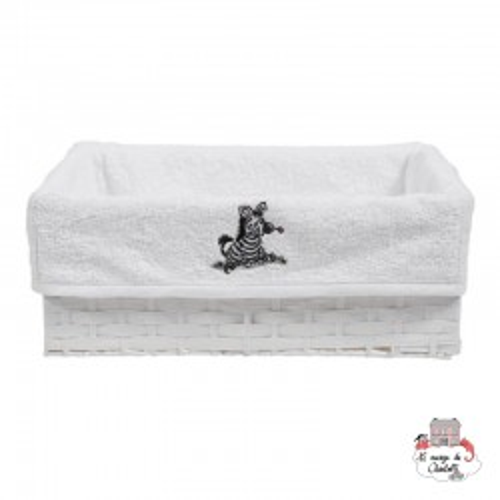 Bébé-jou Basket cover - Zebra White - BBJ0027 - bébé-jou - Washcloths, towel, cape, etc ... - Le Nuage de Charlotte