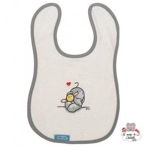 Bébé-jou Bavoir - Humphrey's corner Blanc - BBJ0031 - bébé-jou - Gants de toilette, essuie, cape, etc... - Le Nuage de Charlotte