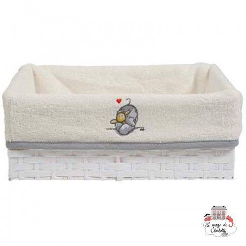 Bébé-jou Basket cover - Humphrey's corner White - BBJ0033 - bébé-jou - Washcloths, towel, cape, etc ... - Le Nuage de Charlotte