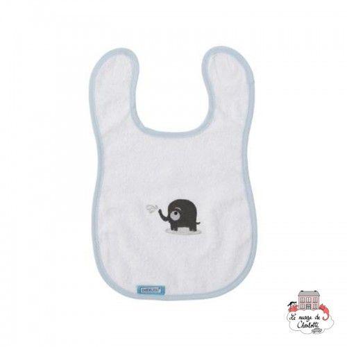 Bébé-jou Bib - Bibi et Bobo White - BBJ0038 - bébé-jou - Washcloths, towel, cape, etc ... - Le Nuage de Charlotte