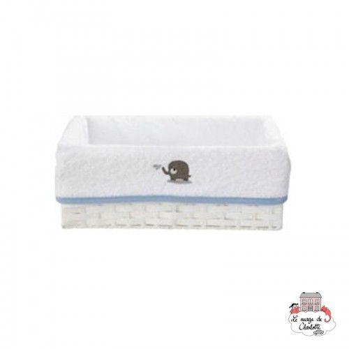 Bébé-jou Basket cover - Bibi et Bobo White - BBJ0039 - bébé-jou - Washcloths, towel, cape, etc ... - Le Nuage de Charlotte