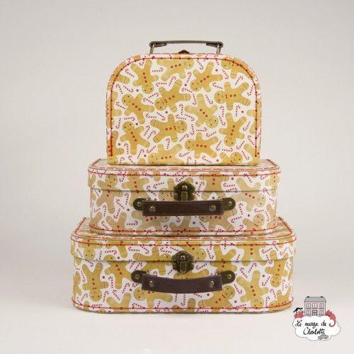 Gingerbread Man Suitcases - Set of 3 - S&B0016 - Sass & Belle - Suitcases - Le Nuage de Charlotte