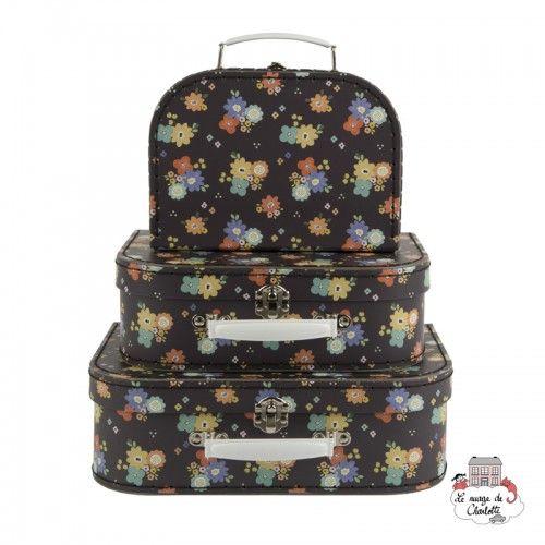 Dahlia Floral Suitcases - Set of 3 - S&B0017 - Sass & Belle - Suitcases - Le Nuage de Charlotte
